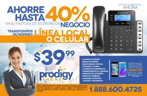 Línea telefónica profesional para negocios