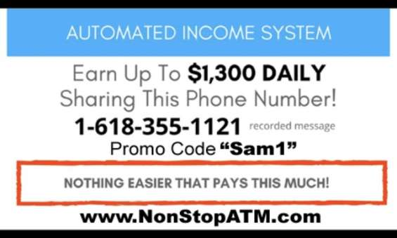 Two steps to make $1300 per day!