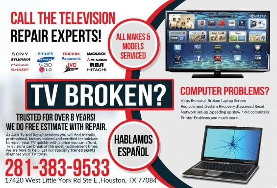 Técnicos en reparación de tv y computadoras