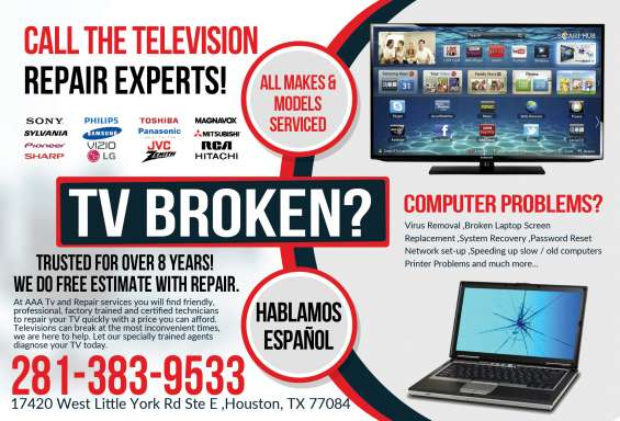 Professionals in repair of tv houston