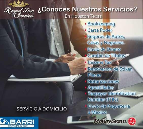 Servicios profesionales (notarizaciones y bookkeeping) houston