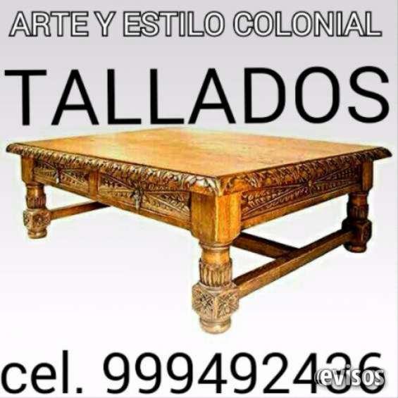 Ebanista dibujante y tallador de muebles de madera clasicos y colonial