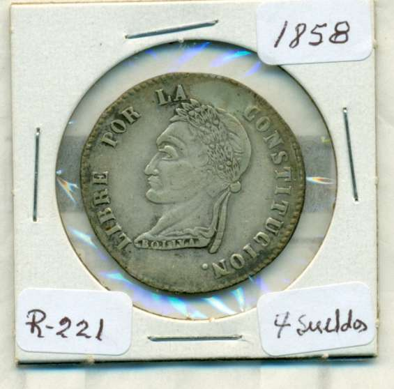 Moneda de plata de bolivia 1858 p paz