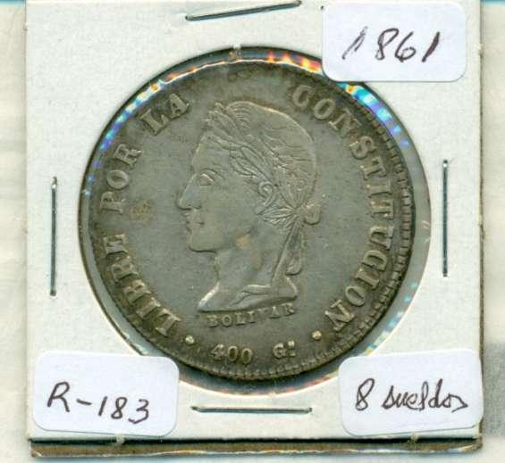 Moneda de plata de bolivia de 1861