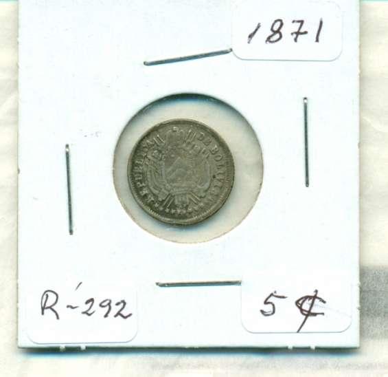 Moneda de plata de bolivia de 1871