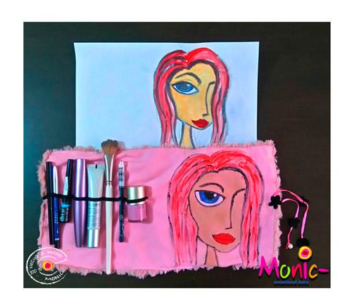 *tu estuche de maquillaje personalizado con dibujo enviado- y/o nombre