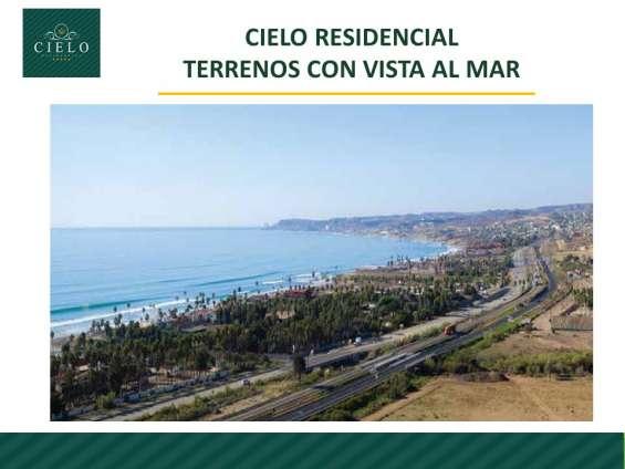 Venta de terrenos con vista al mar en rosarito, mexico
