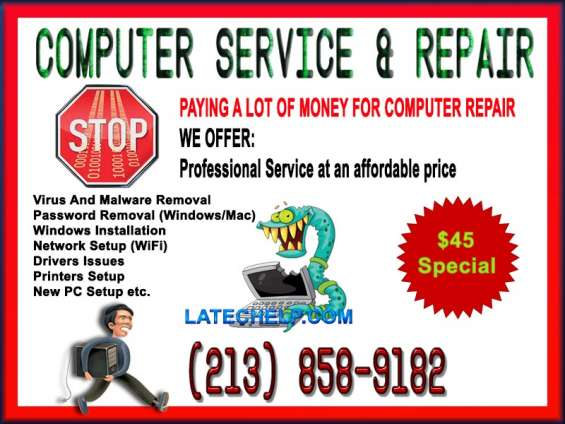 We fix any computer problem