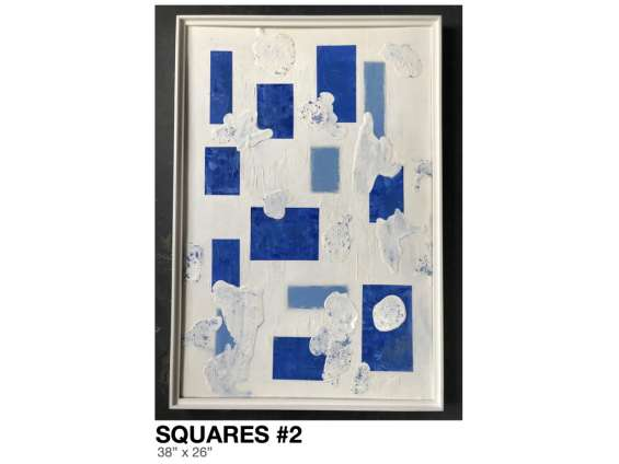 Simple chic minimal modern artwork // squares 2