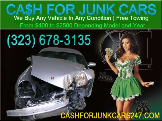 We pay cash for junk cars! / same day