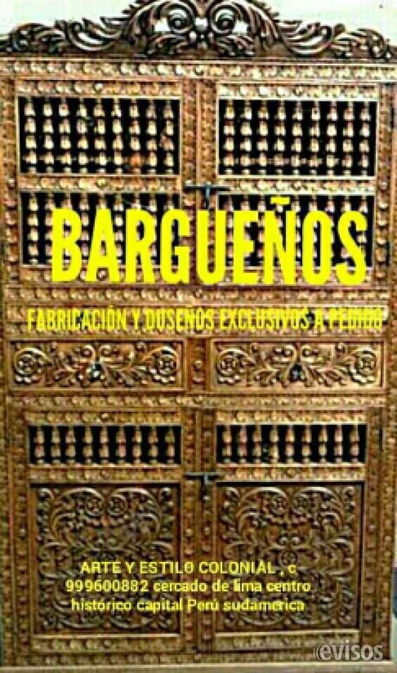 Bargueños tallados colonial peruanos. lima perú sudamerica