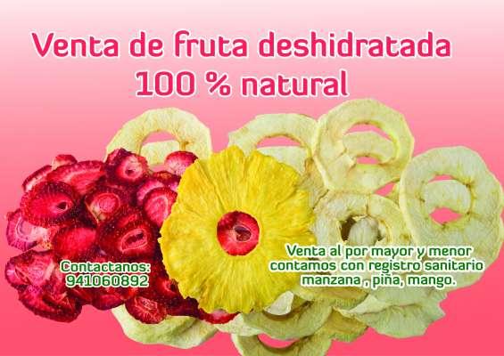 Snak de fruta deshidratada