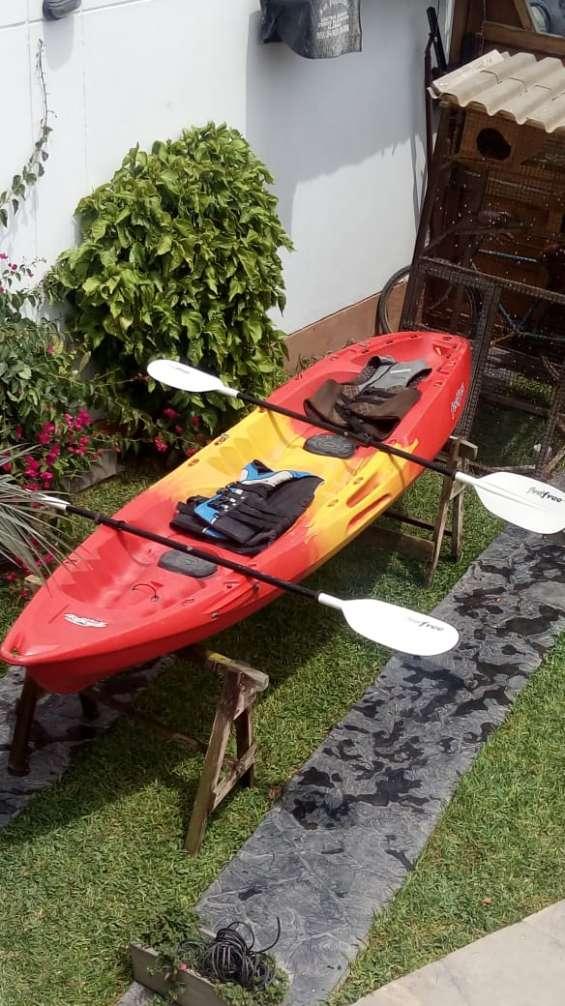 Kayak feelfree para dos personas+remos+chalecos