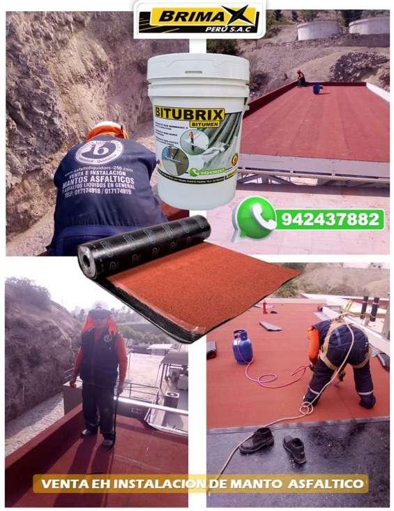Servicio de instalacion de manto asfaltico - brimax peru.