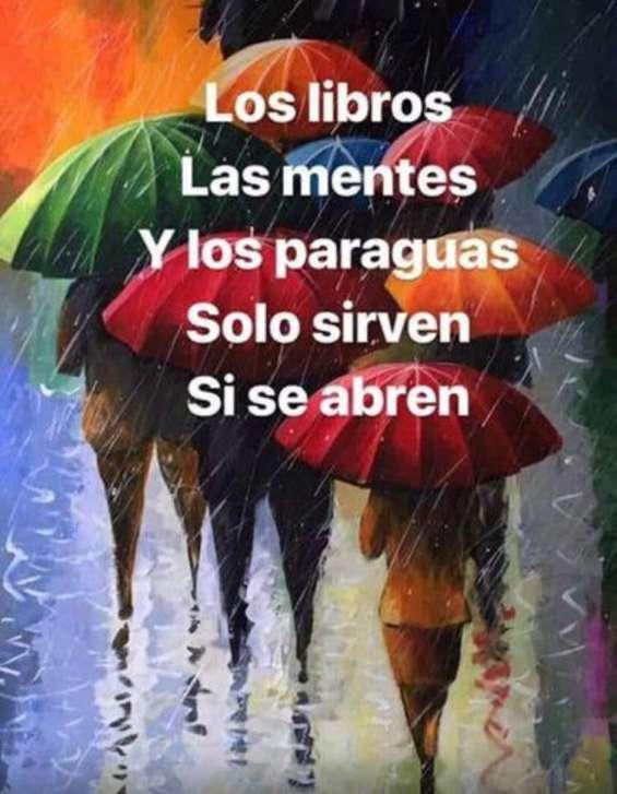 Los libros, las mentes y los paraguas solo sirven si se habren