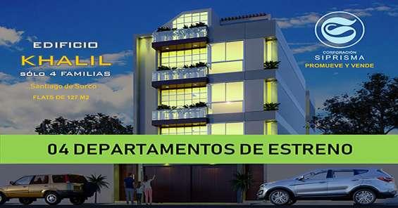 Departamento · 127m² · 3 dormitorios santiago de surco lima peru
