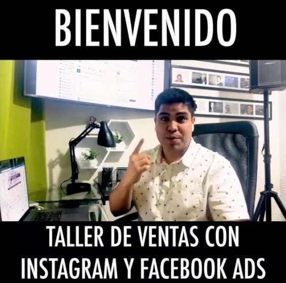 Nuevo entrenamiento gratis taller de ventas con instagram y facebook ads.