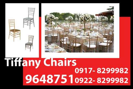 Tiffany chairs rent hire manila philippines