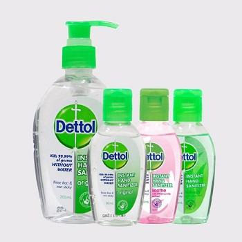 Desinfectante de manos instantáneo dettol