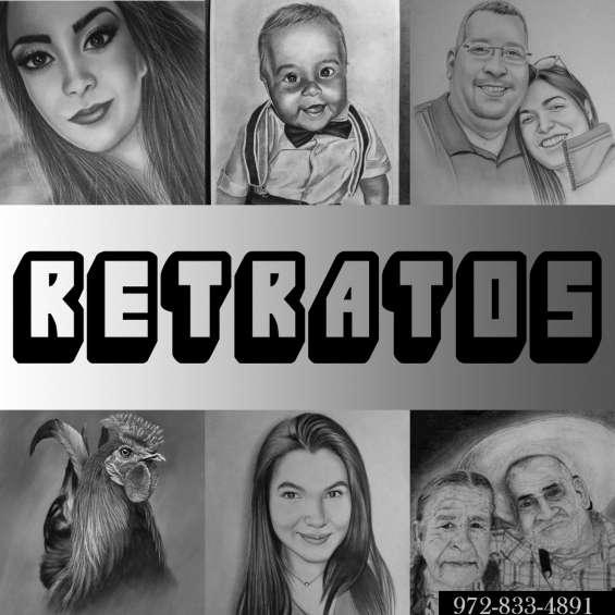 Hermosos retratos de tus fotos familiares sorprende a tus seres queridos con tan bello regalo pedidos al 972-833-4891