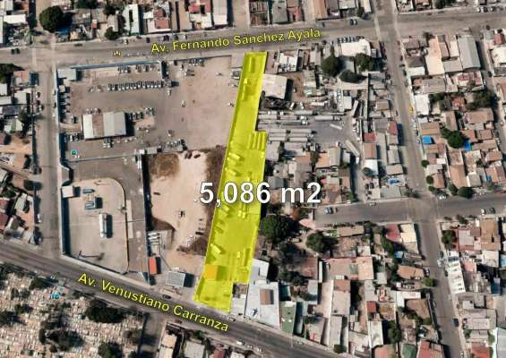 Terreno en venta zona centro, tijuana, 5,086m2
