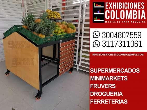 Muebles y exhibidores para frutas y verduras