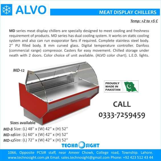 Alvo meat chiller, meat display chiller, meat shop equipment in pakistan