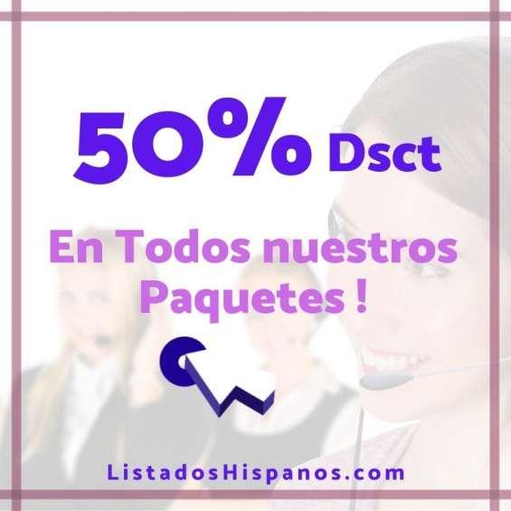 Venta de base de datos   bases de datos de hispanos residentes en usa